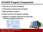 stages program components