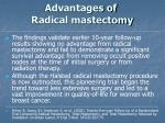 advantages of radical mastectomy28