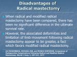 disadvantages of radical mastectomy30
