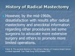 history of radical mastectomy8