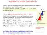 equation of a non vertical line