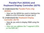 parallel port 8255a and keyboard display controller 8279
