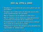 iso de 1994 2000