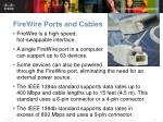 firewire ports and cables