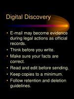 digital discovery