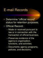 e mail records