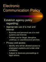 electronic communication policy