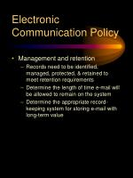 electronic communication policy15