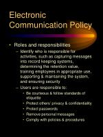 electronic communication policy16