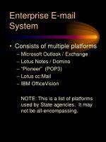 enterprise e mail system
