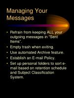 managing your messages
