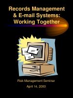 records management e mail systems working together