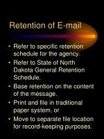 retention of e mail