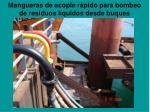 mangueras de acople r pido para bombeo de residuos l quidos desde buques