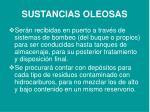 sustancias oleosas
