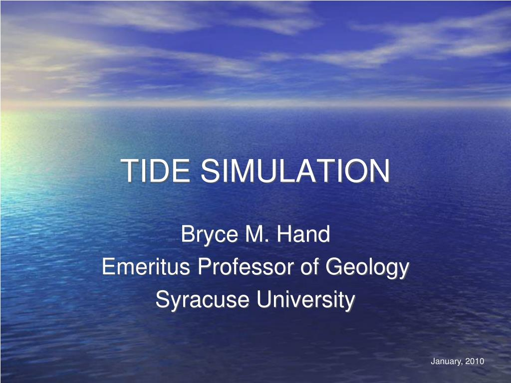 tide simulation l.