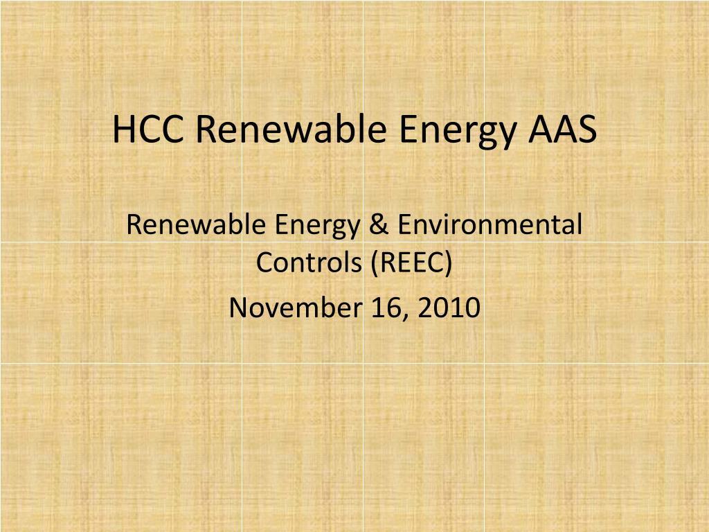 hcc renewable energy aas l.