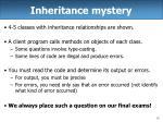 inheritance mystery
