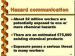 hazard communication
