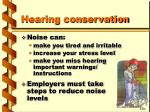 hearing conservation41
