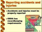 reporting accidents and injuries