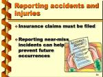reporting accidents and injuries6