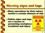warning signs and tags