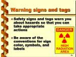 warning signs and tags10
