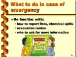 what to do in case of emergency8
