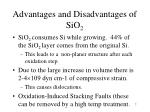 advantages and disadvantages of sio 21