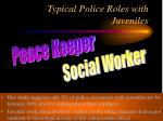 typical police roles with juveniles