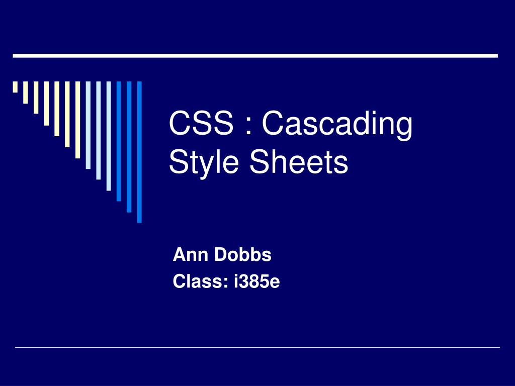 css cascading style sheets l.