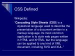 css defined