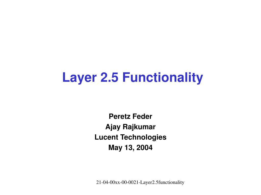 layer 2 5 functionality l.