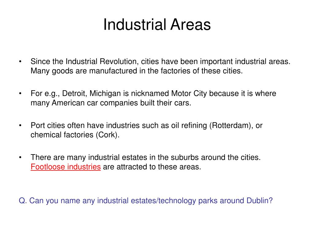 Industrial Areas