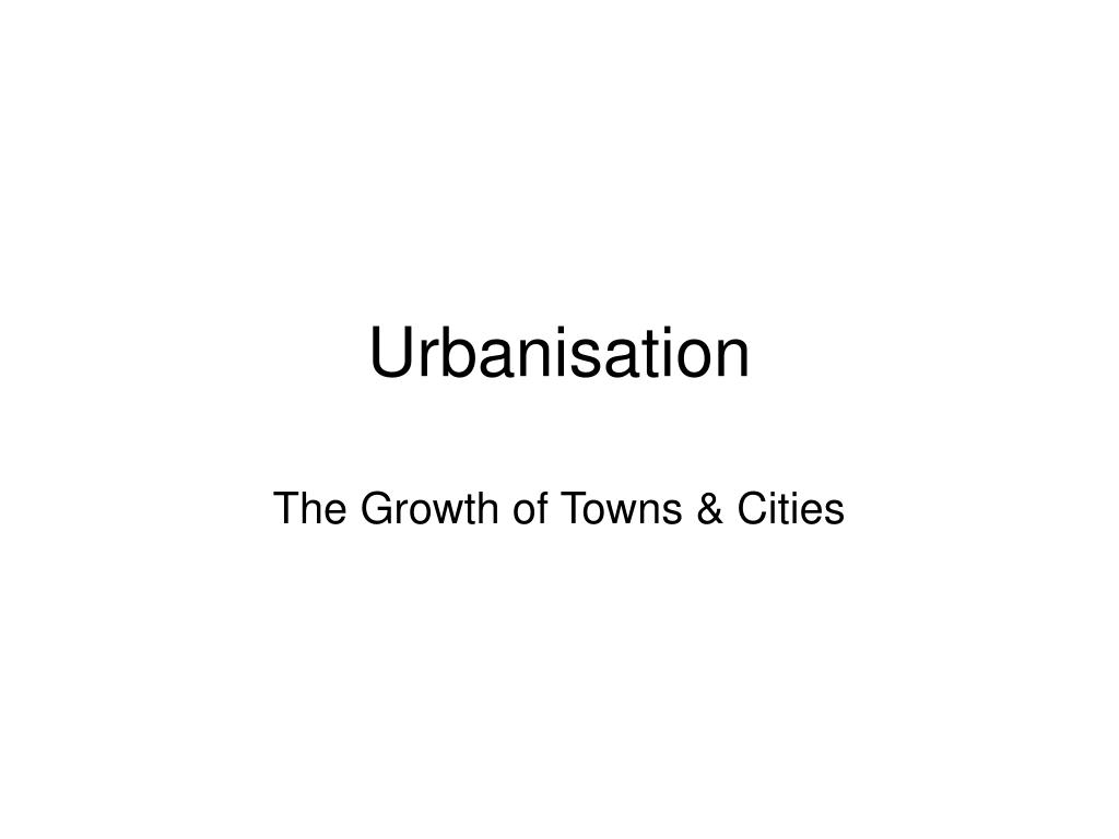 urbanisation l.