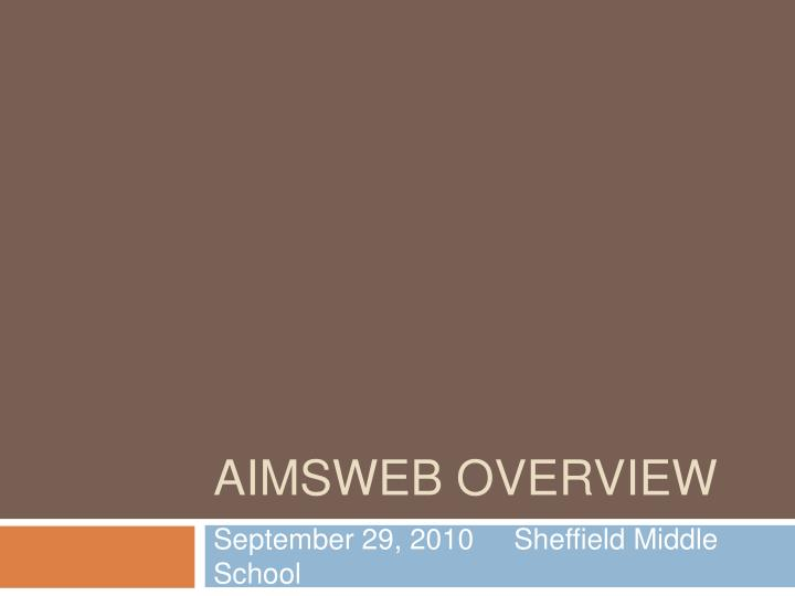 aimsweb overview n.
