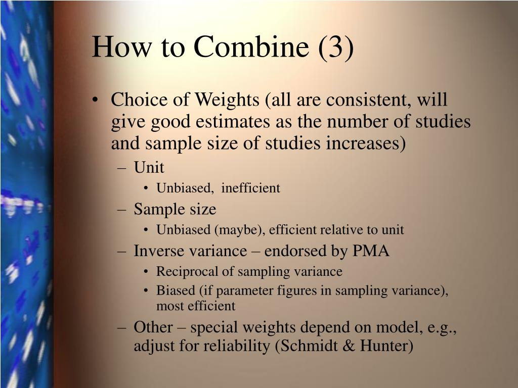 How to Combine (3)