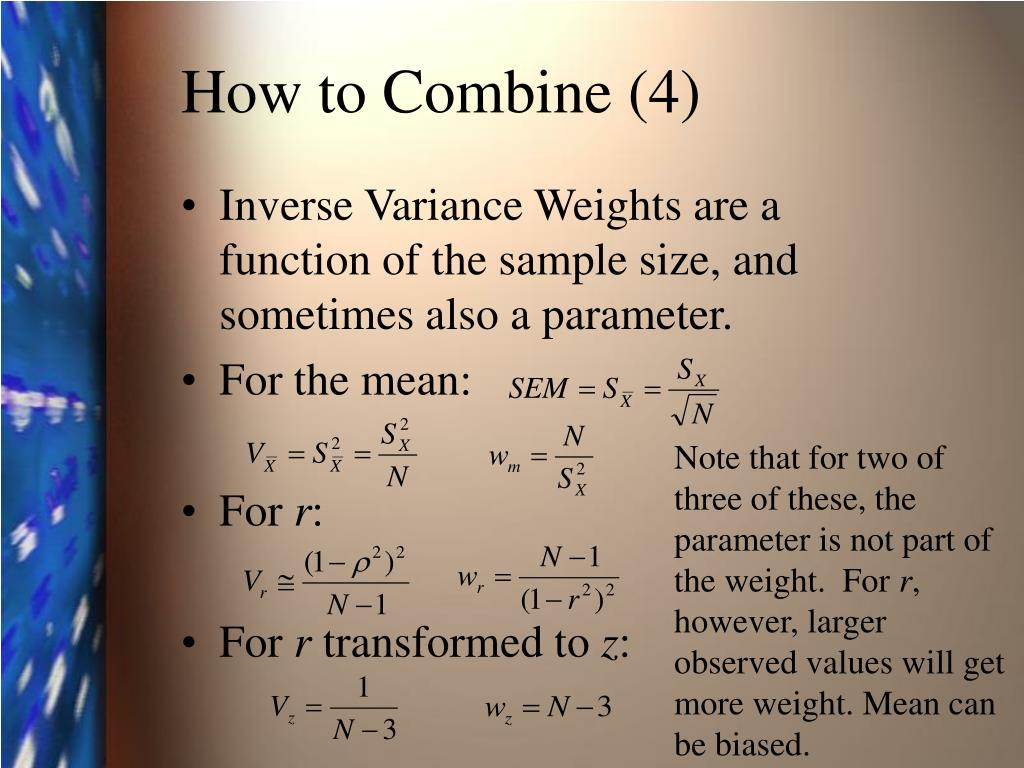 How to Combine (4)