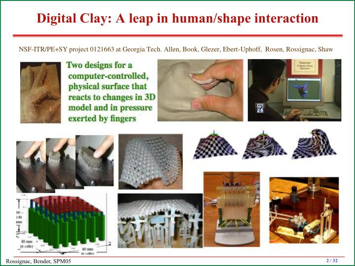 Digital clay a leap in human shape interaction