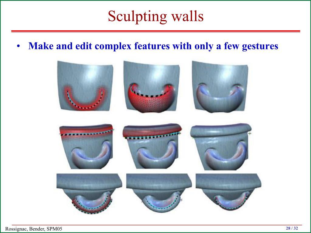 Sculpting walls