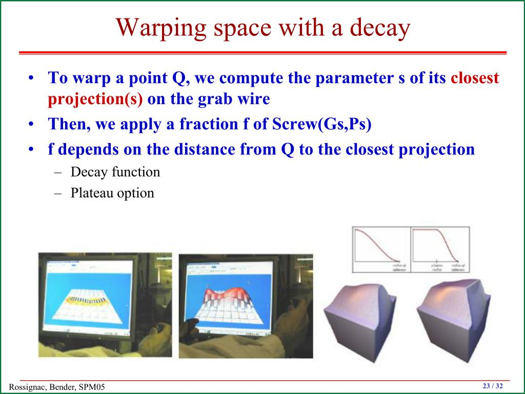 Warping space with a decay
