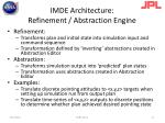 imde architecture refinement abstraction engine
