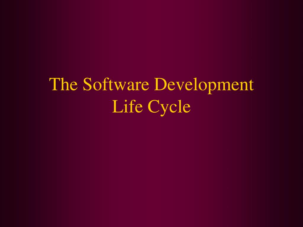 the software development life cycle l.