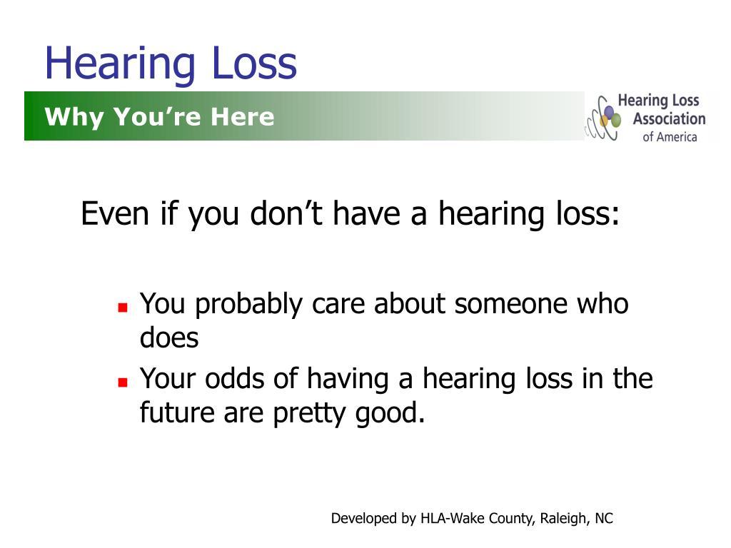 hearing loss l.