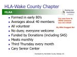 hla wake county chapter