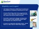 eligibility cont d again