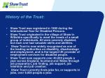history of the trust
