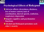 psychological effects of rohypnol