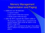 memory management segmentation and paging